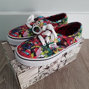 Marvel Comic Book Vans Shoes Kids Size 13 New